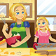 Mother Daughter Baking Cookies - GraphicRiver Item for Sale