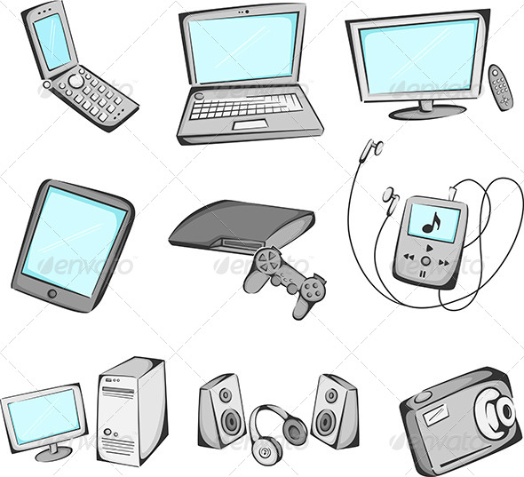 GraphicRiver Electronics items icons 5921269