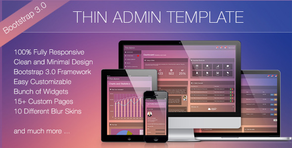 ThemeForest Thin Admin Template 5896088