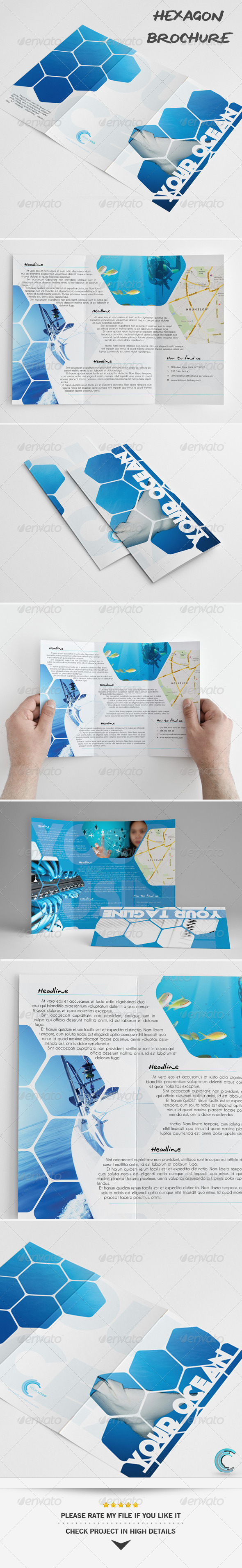 GraphicRiver Hexagon Universal Brochure 5921424