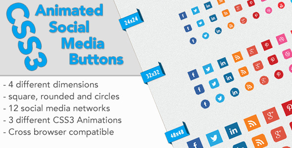 CodeCanyon CSS3 Animated Social Media Buttons 5919492
