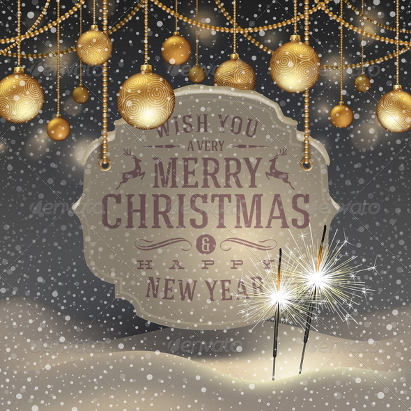 GraphicRiver Christmas Illustration with Holidays Greetings 5922391