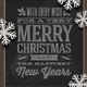 Holidays Greeting on Chalkboard & Paper Snowflakes - GraphicRiver Item for Sale