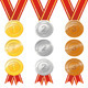 Gold Silver Bronze Award Medal With Ribbon - GraphicRiver Item for Sale