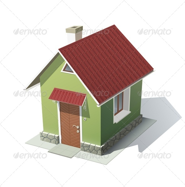 GraphicRiver Green House with Red Roof 5922721