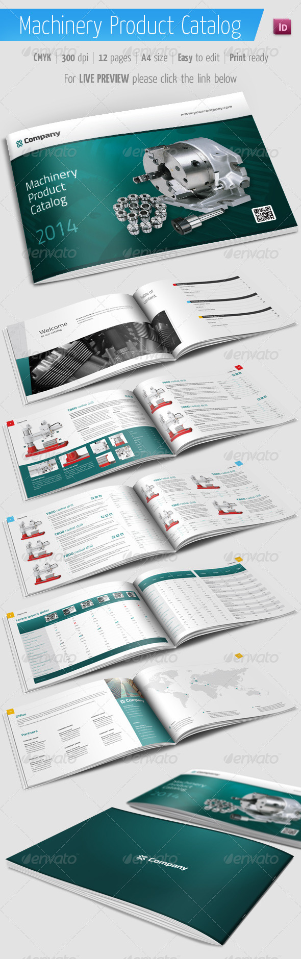 GraphicRiver Product Catalog Machinery Brochure 5923054