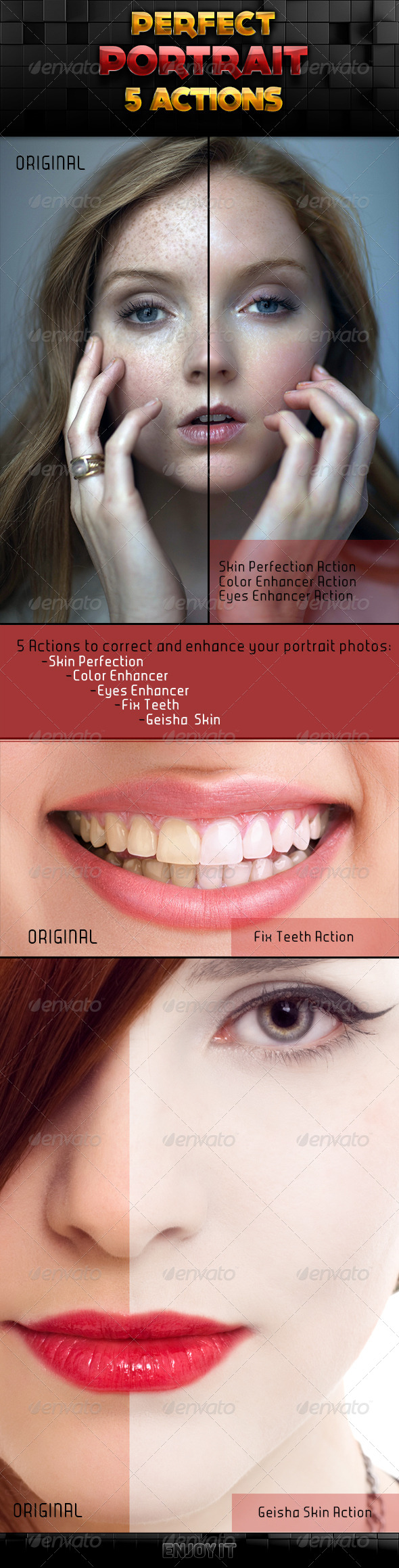 Perfect Portrait Actions Set - Photo Effects Actions