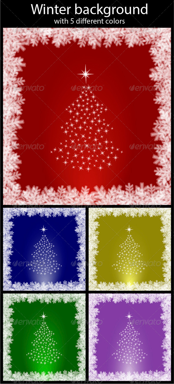 GraphicRiver Abstract winter background 5783577