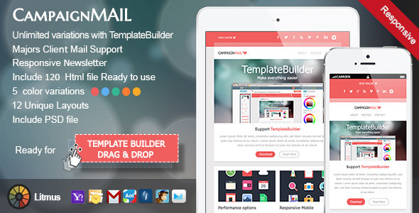 ThemeForest CampaignMail Responsive E-mail Template 5913749