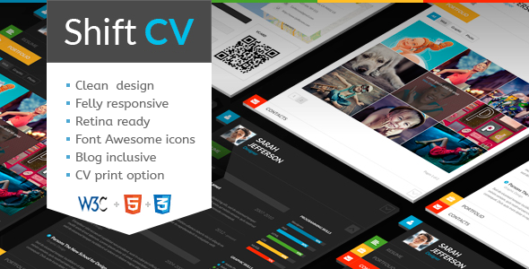 ThemeForest ShiftCV Blog Resume Portfolio WordPress 5925341