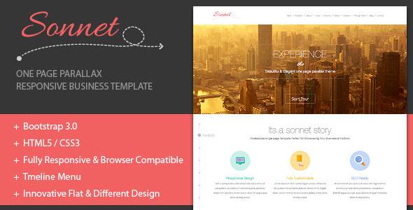 ThemeForest Sonnet-Onepage Parallax Business Portfolio 5907858