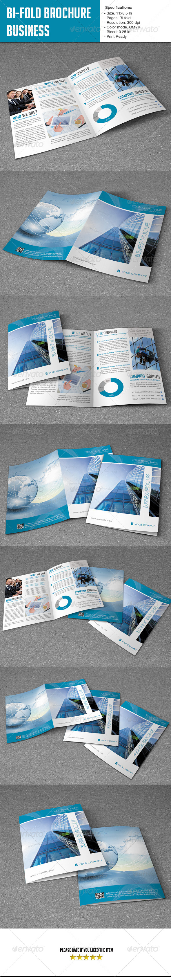 GraphicRiver Bifold Brochure for Business 5925410
