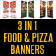 3 in 1 Food And Pizza Menu -Graphicriver中文最全的素材分享平台