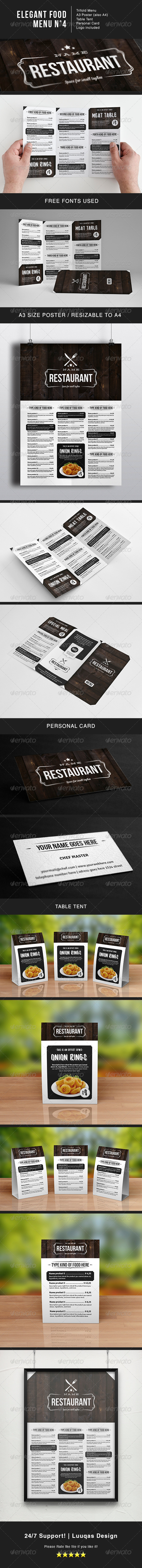 GraphicRiver Elegant Food Menu 4 5926455
