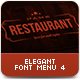 Elegant Food Menu 4 - GraphicRiver Item for Sale