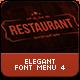 Elegant Food Menu 4 设计素-Graphicriver中文最全的素材分享平台