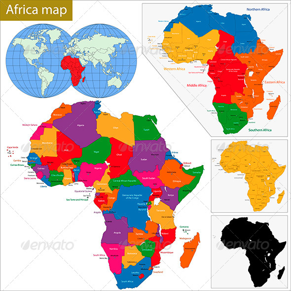 GraphicRiver Africa Map 5926909