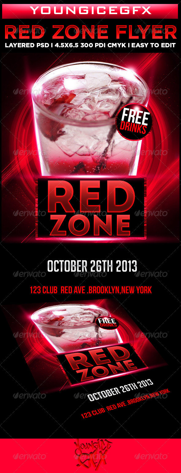 GraphicRiver Red Zone Flyer Template 5926959