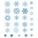 Set of Blue Snowflakes - GraphicRiver Item for Sale