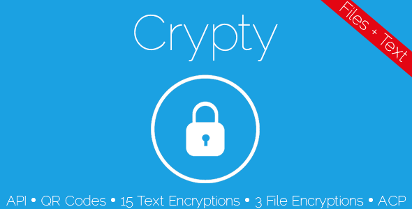 CodeCanyon Crypty File and Text Encryption 5927126