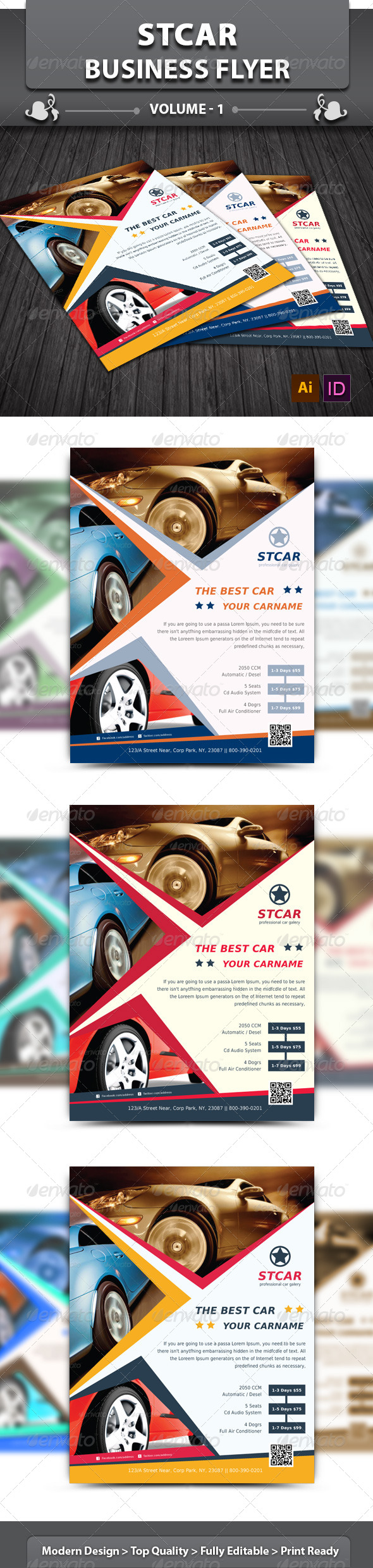 GraphicRiver Stcar Business Flyer v1 5927300