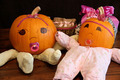 Two Cute Princess Pumpkin Babies - PhotoDune Item for Sale