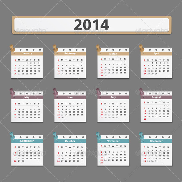 GraphicRiver 2014 Calendar 5929191