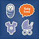 Baby Icons Paper Cut Style - GraphicRiver Item for Sale