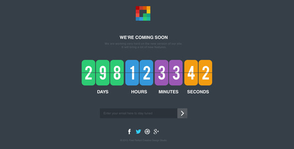 ThemeForest Pixp Countdown Coming Soon Template 5889526