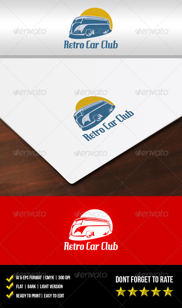GraphicRiver Retro Car Club Logo 5929240