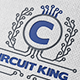 Electronic King Crest Logo - GraphicRiver Item for Sale