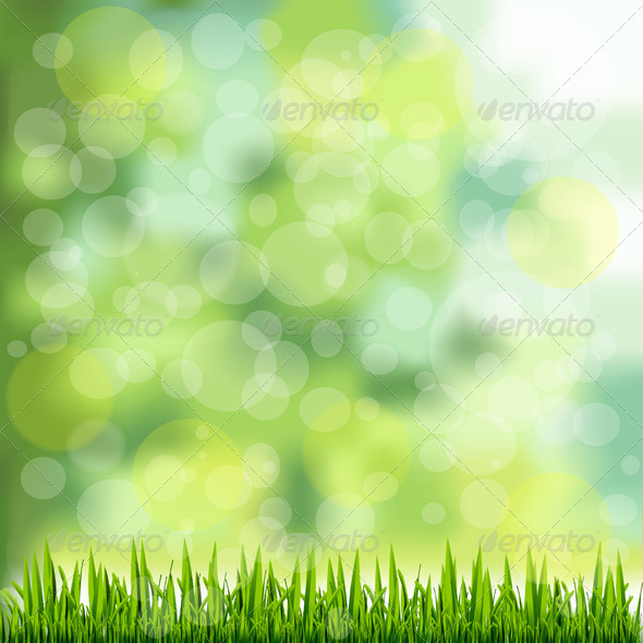 GraphicRiver Grass Border on Natural Green Background 5933299