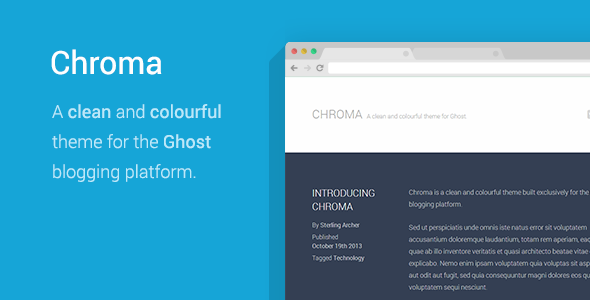 Chroma - A Colorful Ghost Theme