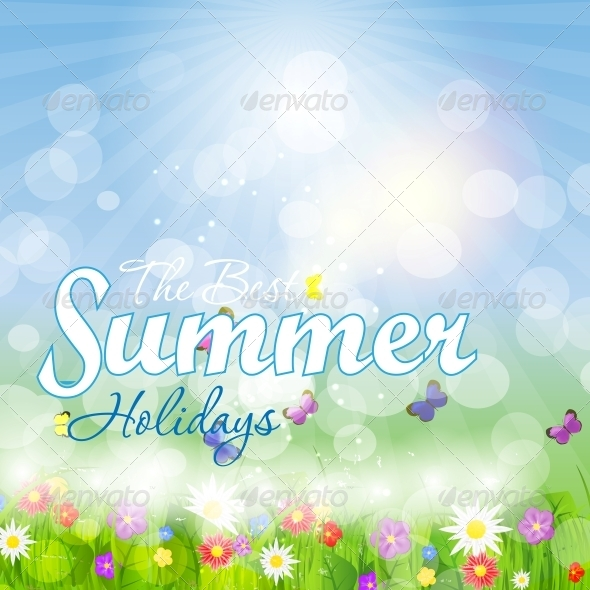 GraphicRiver Summer Holidays Vector Background 5934059