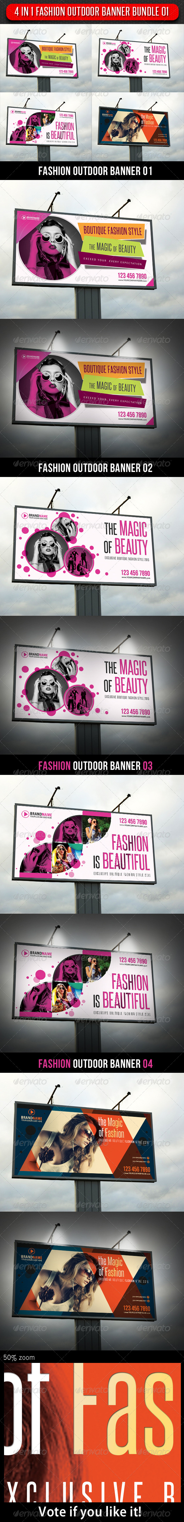 GraphicRiver 4 in 1 Fashion Outdoor Banner Bundle 01 5899239