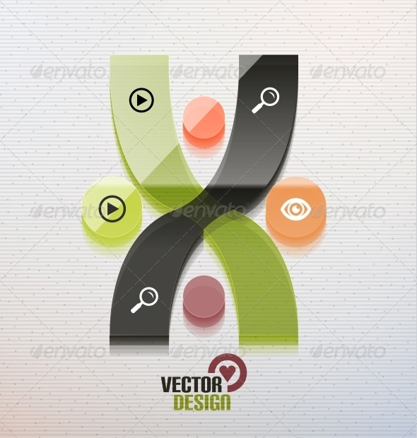 GraphicRiver Vector 3D Glass Shape for Business Template 5934264