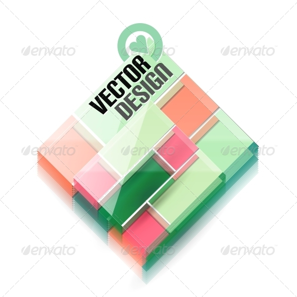 GraphicRiver Vector 3D Glass Shape for Business Template 5934291