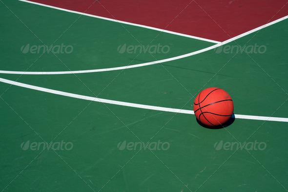 Three Point Line : Basketball at three point line stock photo by njnightsky