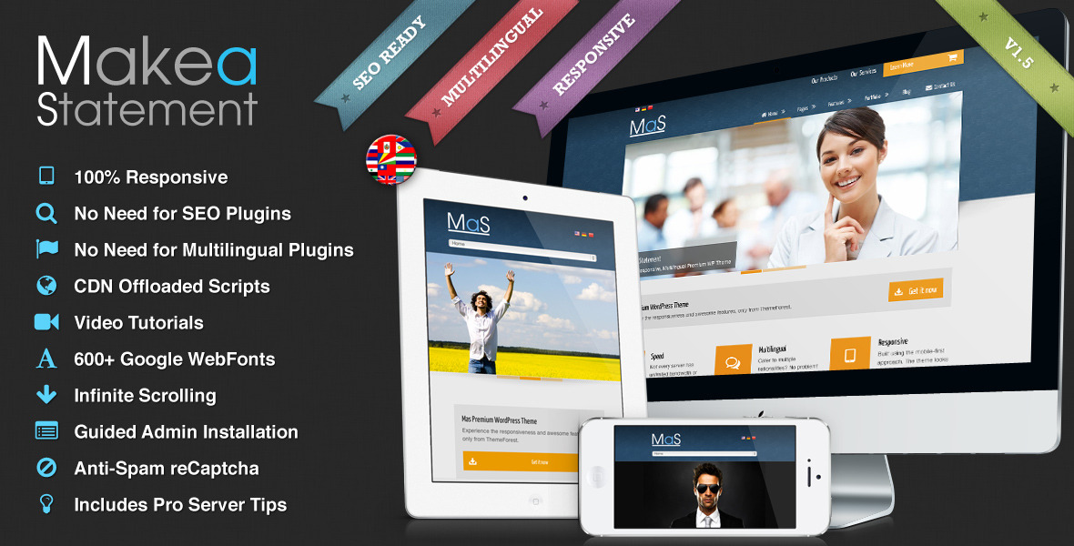 MaS - Multi-Purpose Multilingual Responsive Theme