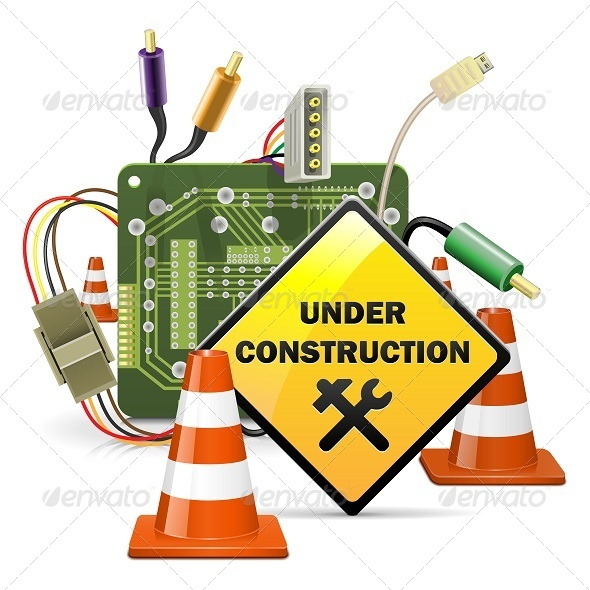 GraphicRiver Vector Under Construction Concept with Sign 5934793