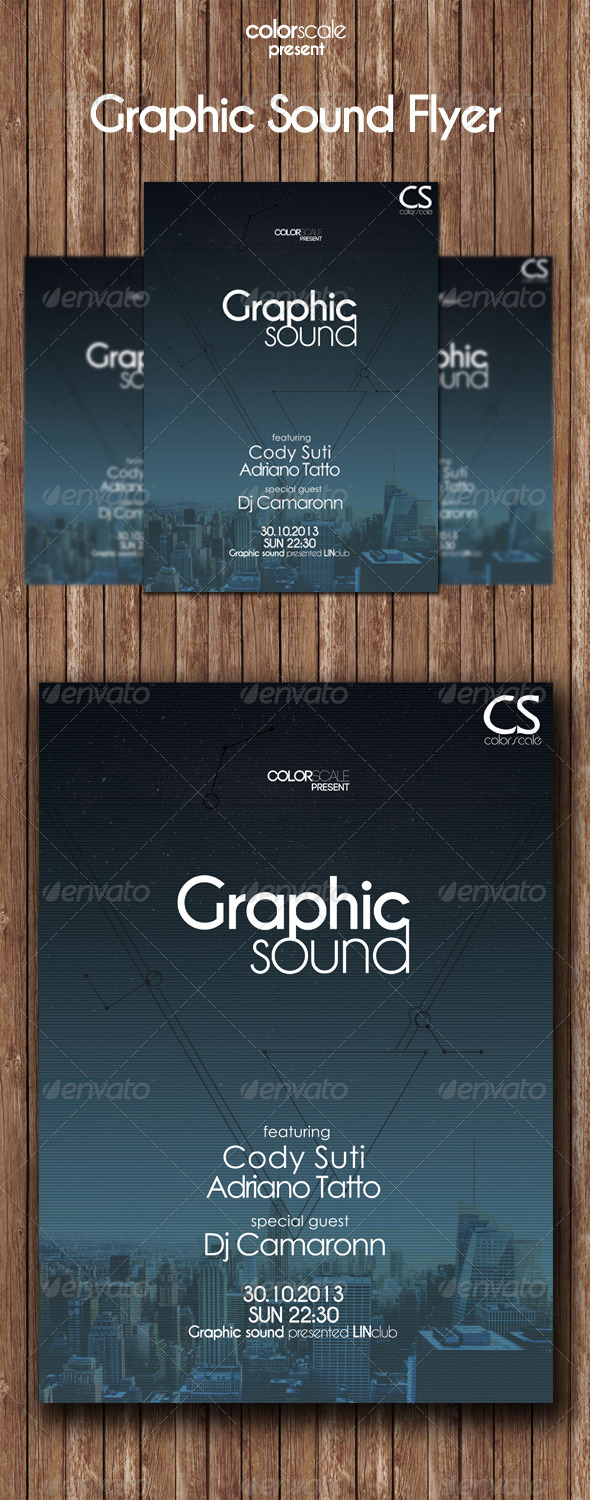 GraphicRiver Graphic Sound Flyer 5934935