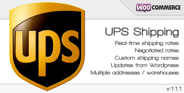 UPS Shipping method for WooCommerce - CodeCanyon Item for Sale