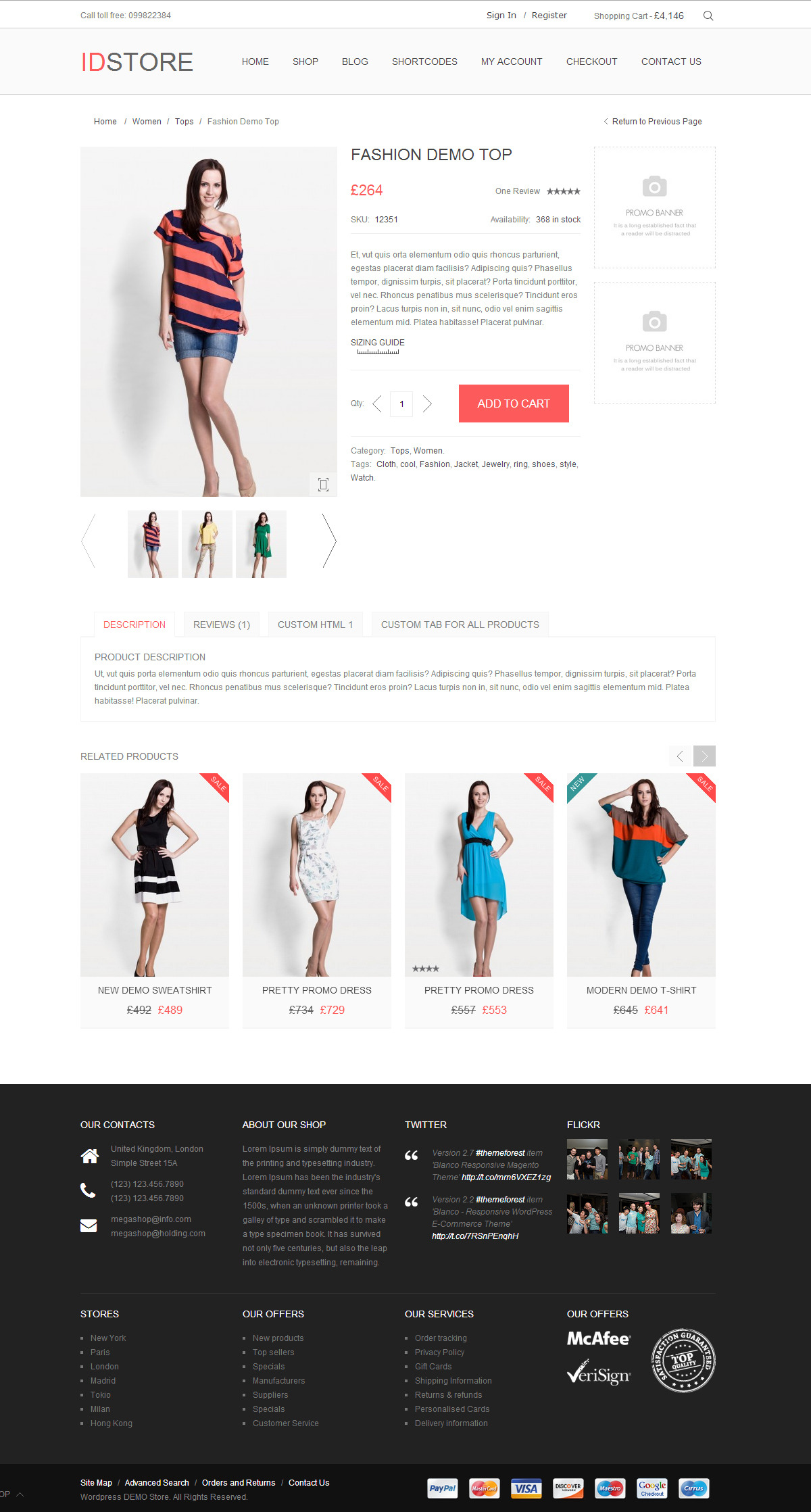 IDStore - Responsive Multi-Purpose Magento Theme