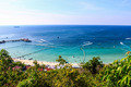Beautiful tropical  Seascape in blue sky at Koh Larn, Pattaya - PhotoDune Item for Sale