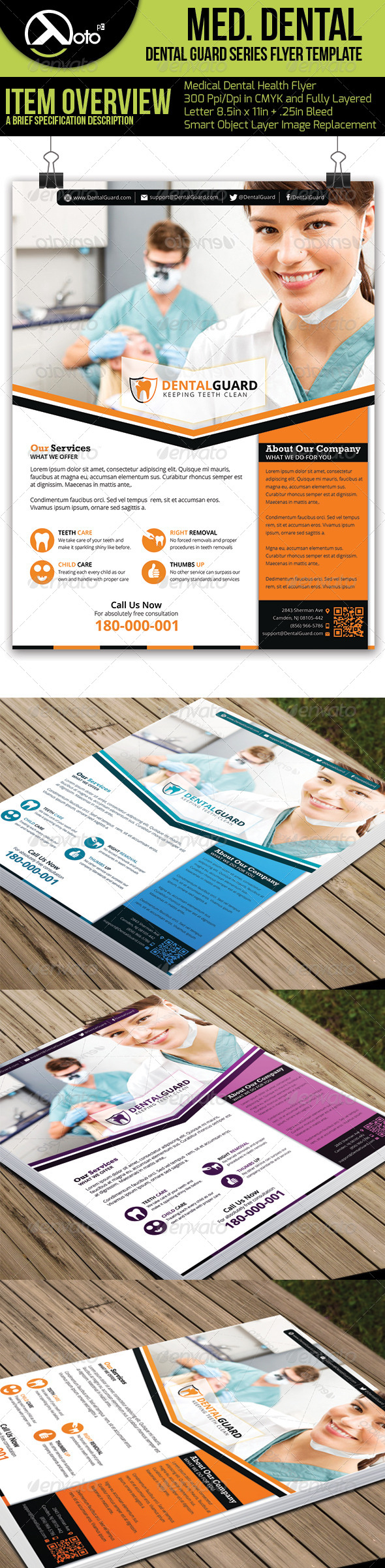 Medical Dental Flyer  V5 - Flyers Print Templates