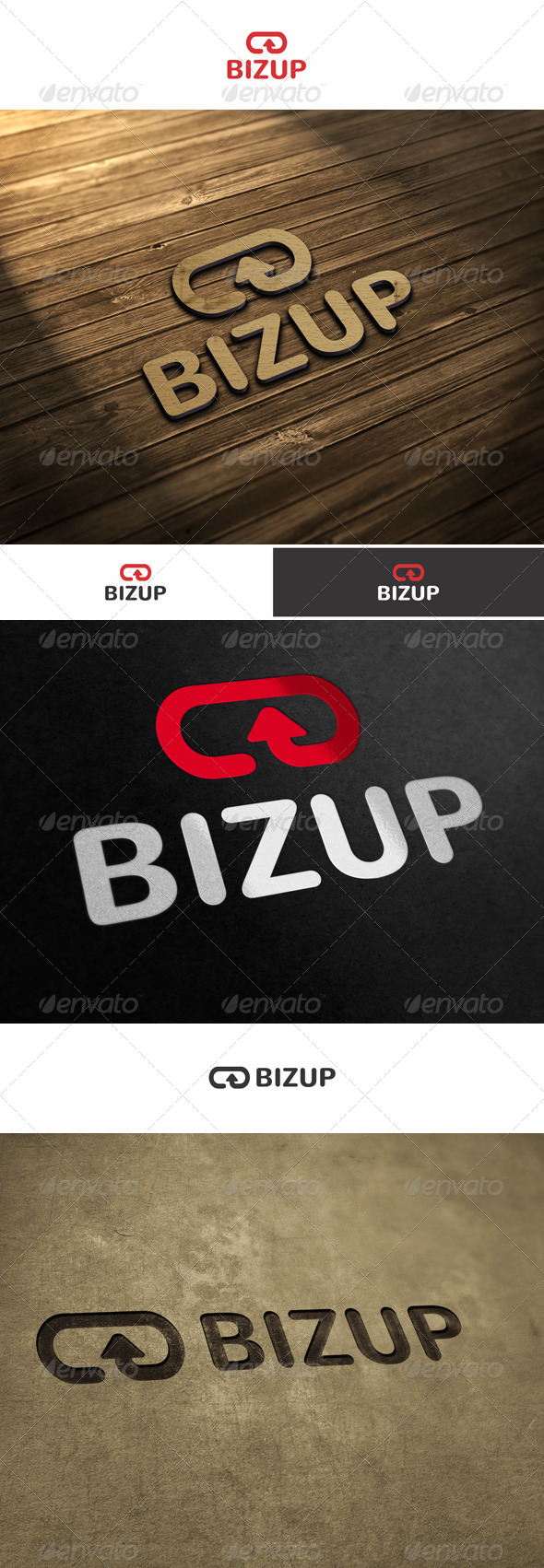 GraphicRiver Business Up Biz Up Logo 5935872