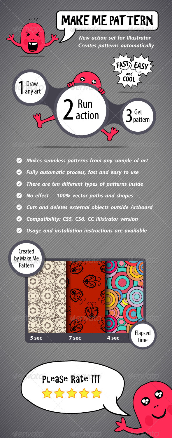 GraphicRiver Make Me Pattern Action Set for Illustrator 5936118