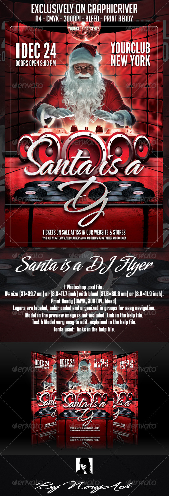 GraphicRiver Santa is a DJ Flyer Template 5937063