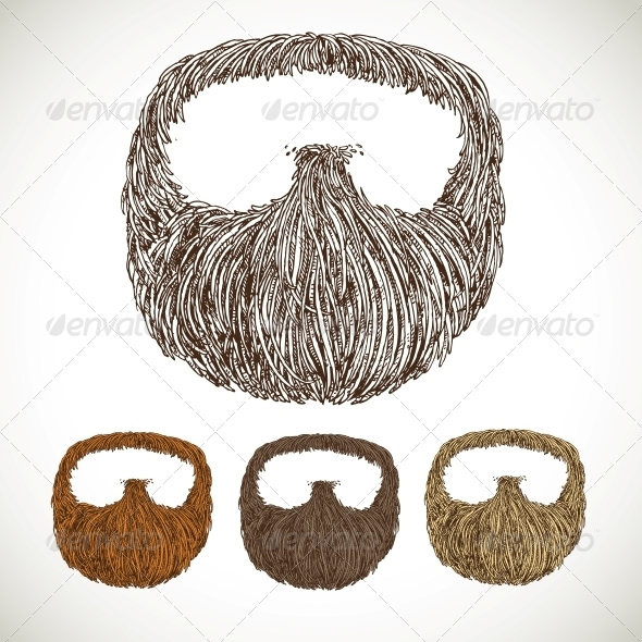 GraphicRiver Neat Beard in Color Variations 5937152