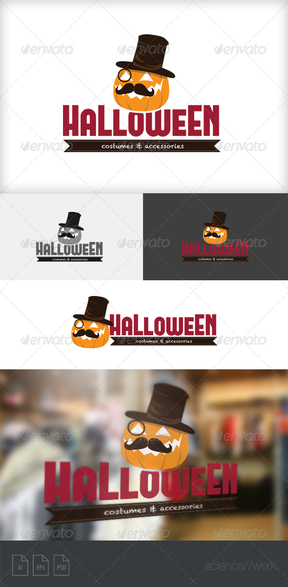 GraphicRiver Halloween Logo 5939952